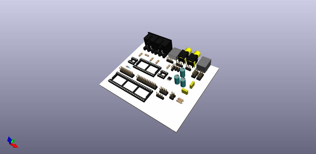 Audio-MIDI-PCB for Teensy-3 6/3 6
