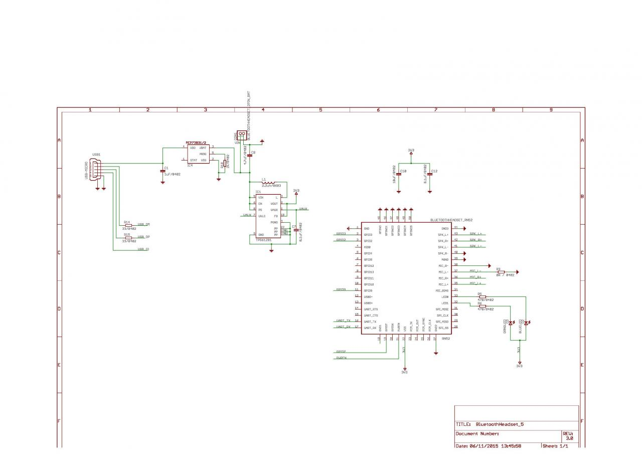Teensy 32 And Audio Board Integration Schematic Verification Help Bluetooth Headset Circuit Diagram Click Image For Larger Version Name Bluetoothheadset 5schematic Page 2 Views 217 Size