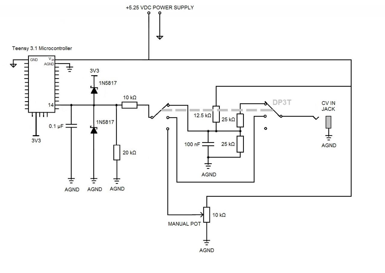 Help With Analog Input Circuit Diode Switched Synthesiser Click Image For Larger Version Name Cv In Views 864 Size