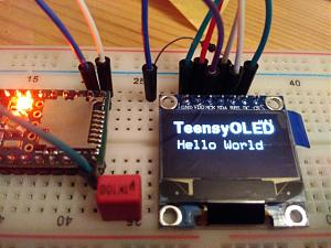 Click image for larger version.  Name:Teensy_OLED_HelloWorld.jpg Views:357 Size:89.9 KB ID:9326