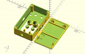Click image for larger version.  Name:Teensy_Bat_box_OpenSCAD_with_knobs.jpg Views:3 Size:73.9 KB ID:20767